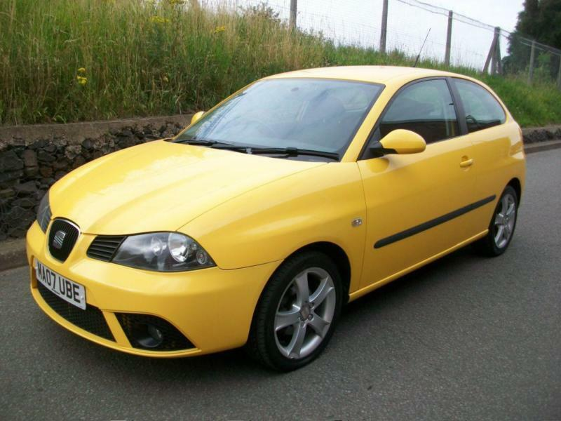 2007 07 seat ibiza 1 4 16v sport yellow low miles full. Black Bedroom Furniture Sets. Home Design Ideas
