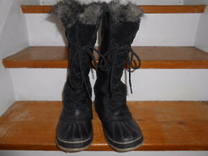 SOREL LEATHER BLACK FEMALE BOOTS