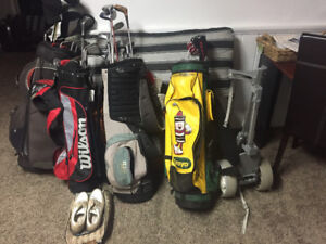 Clubs bags and shoes