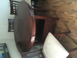 Living room set-Leather couches, dining & coffee table- $500