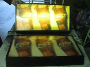 2 COCA COLA LIGHTED  DISPLAY RESTAURANT SIGNS  $50.00  PAIR
