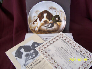 """SPRINGER SPANIEL ~ """"Dog Tired"""" ~ Knowles Collector Plate."""