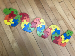 Wooden learning puzzles
