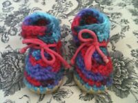 PADRAIG WOOL BABY BOOTS MULTICOLOUR