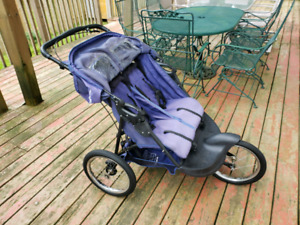 Double Stroller with Big Wheels Mint condition