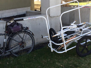 Cycle Cargo trailer, with an attachment for a paddle board