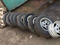 Land range rover classic alloy wheels x9