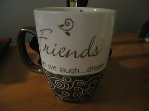 "Set of 2 CARSON HOME ACCENTS ""FRIENDS"" MUGS  NEW!"