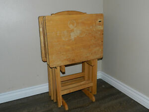 TV Tray Table Set