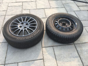 "Summer 15"" and Winter 14"" Tires with Rims"