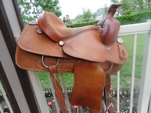 frontier sadderly 15in roping saddle
