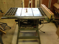 table saw with new blades, band saw, router, all for $400