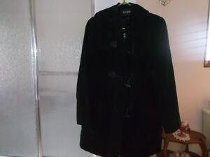 Ladies black winter coat