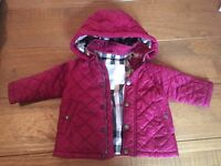 100% authentic Burberry Infant Quilted Jacket 6Months