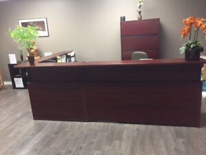L Shaped Receptionist Desk --Beautiful and GREAT Condition