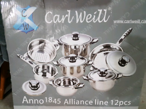 Carl Weill 12 pot and pan set authentic