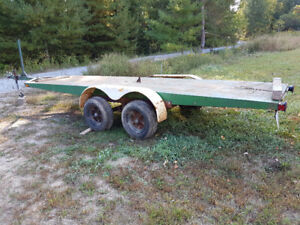 Flatbed trailer - tandem axle