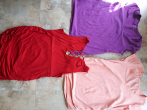 Maternity shirts/tops size XL (sold as lot of 7 tops)