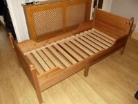 IKEA extendable single bed with mattress, ideal for young child