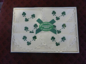 Pure Irish Linen Cocktail Mats by Brownlow
