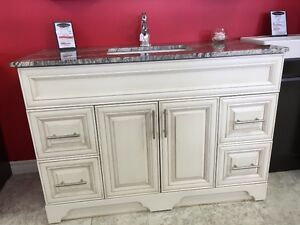 "48"" Vanity -VICTORIA SERIES - Quartz Countertop - Solid Wood"