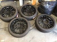 Fully refurbished alloy wheels with brand new tyres