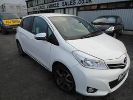 2013 Toyota Yaris Trend 1.3 VVT-I CVT - White - AUTOMATIC + Platinum Warranty!
