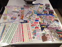 Scrapbooking Stickers $1.00 each or full bag $35.00