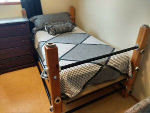 TWIN BEDS WITH FOAM MATTRESS