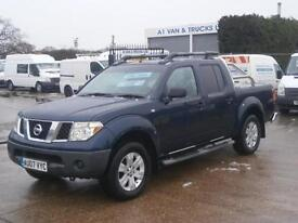 2007 07 NISSAN NAVARA 2.5DCi DOUBLE KING CAB PICK UP TRUCK 4X4 NO VAT TO PAY