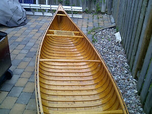Beautiful 16.5 ft C&C Grolouis Cedar Strip Canoe