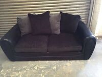 Black 3 & 2 seater sofa