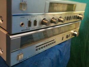 Vintage SANYO integrated amplifer with Matching Tuner..
