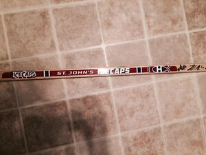 TEAM SIGNED ICECAPS STICK FOR CHARITY St. John's Newfoundland image 2