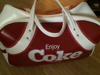 Rare leather vintage coke bag