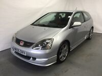 2005 EP3 Honda Civic 2.0 I VTEC Type R 3 Door Silver Petrol Manual service history