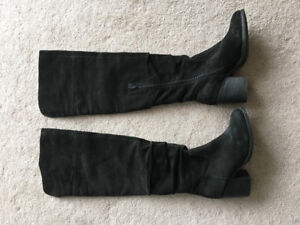 Aldo over-the-knee black suede boots, ladies' size 9 - $25