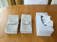 Two set of a Pack of four Polylinen Napkins from Dumelm