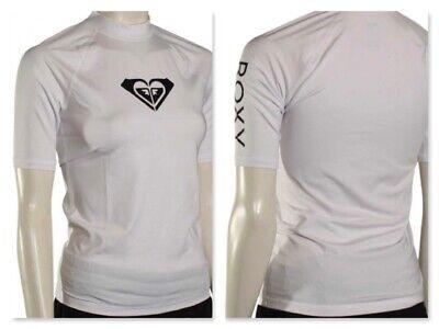 Roxy Girl/'s 14 XL Sea Bound Blue Short Sleeve UV Rash Guard Sun Top Shirt NWT