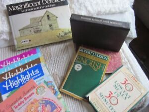 Book, magazines and old maps
