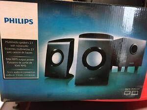 speakers 2.1 PHILIPS multimedia 2.1
