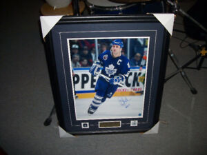 DOUG GILMOUR Auto Pic w/Pins, Cert. & Name Plate Matted & Framed
