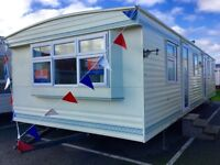 Cheap 3 bed DOUBLE GLAZED & HEATED static caravan FREE 2017 site fees Clacton Essex Kent Suffolk