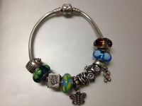Authentic Pandora with 10 Charms