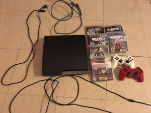 PS3 play station 3 + 6 games 2 controllers grand falls
