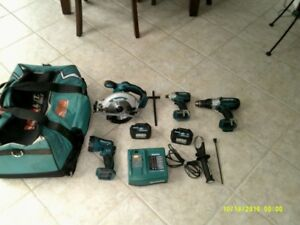 kit d outils makita 18 volts