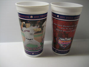 2 Boston Red Sox 2004 World Series Champions Commerative Cups