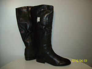 BOOTS- NEW, FULL SiZE, LEATHER WATER RESiSTANT Size 12