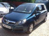 2007 57 Vauxhalll Zafira 1.6i 16v ( a/c ) Life 73,000 miles