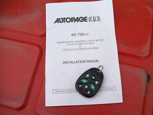 Universal AutoPage Car Alarm And Remote Start Windsor Region Ontario image 3
